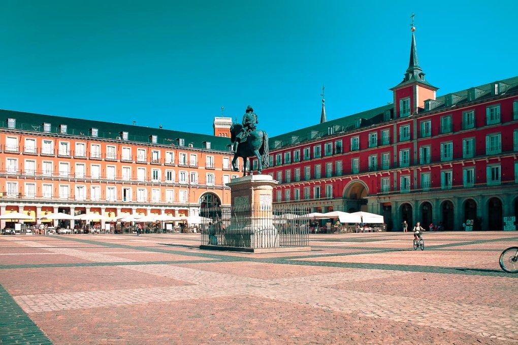 Plaza Mayor - Spring in Madrid
