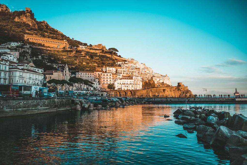 Sunrise on the best beaches of Amalfi Coast