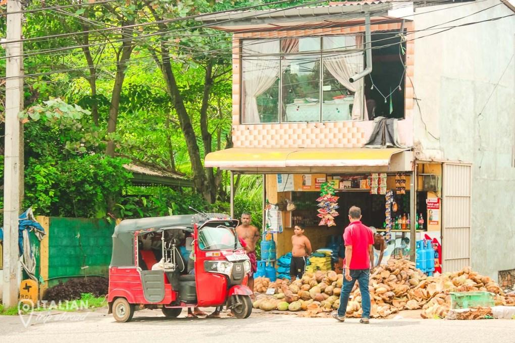 Local coconut shops in Negombo Sri Lanka