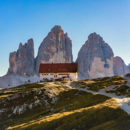 View of the Tre cime di Lavaredo