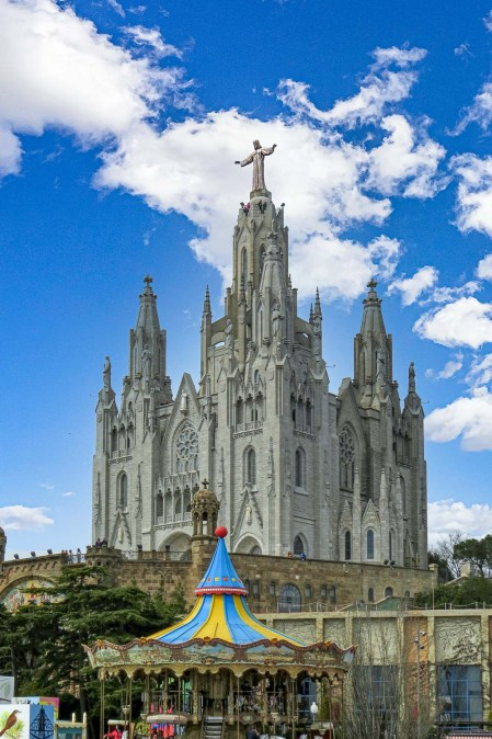 Tibidabo Cathedral in Barcelona - One of the most significant landmarks in Spain