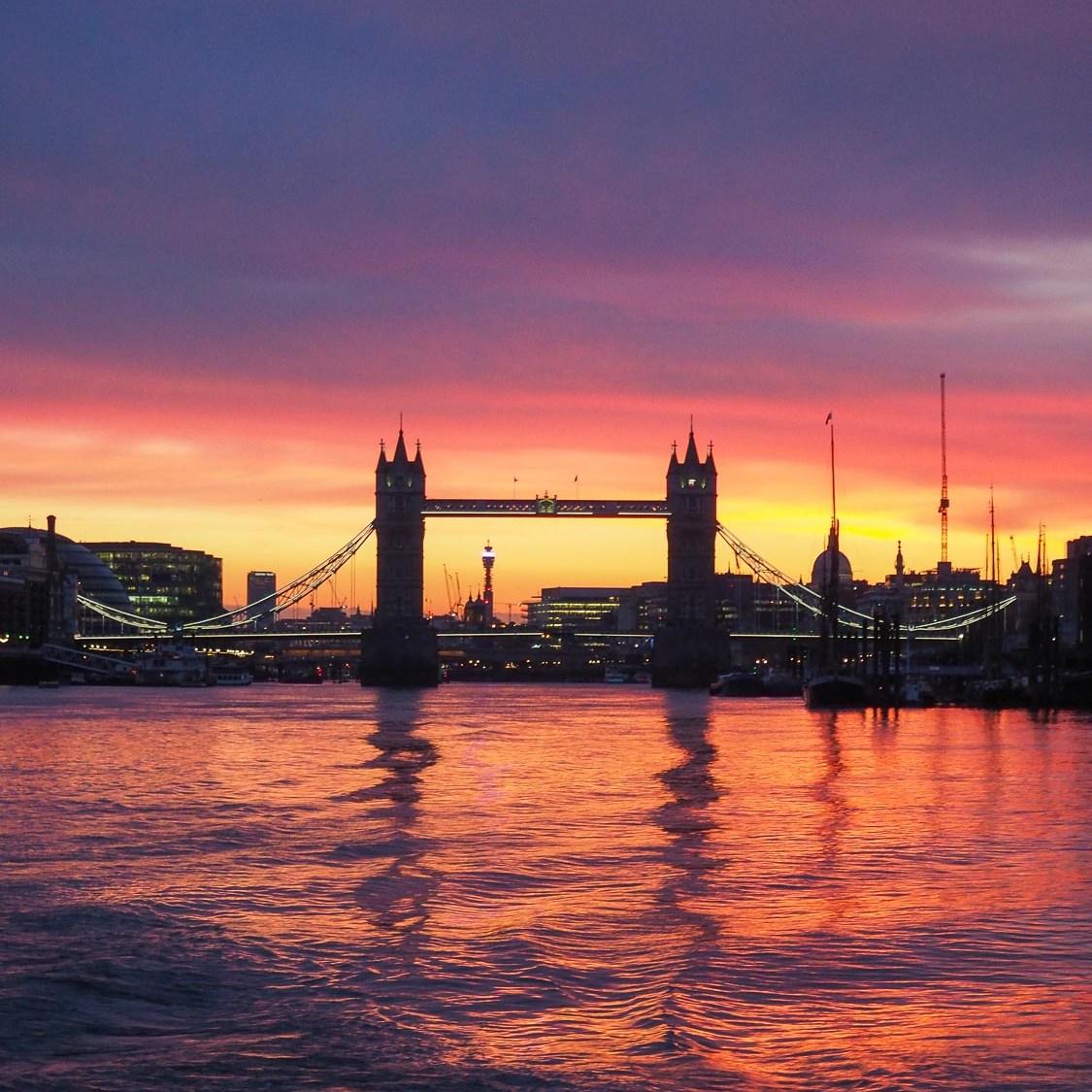 Tower Bridge sunset spot