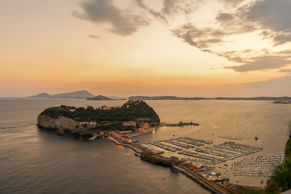 View of Nisida an island attached to Naples