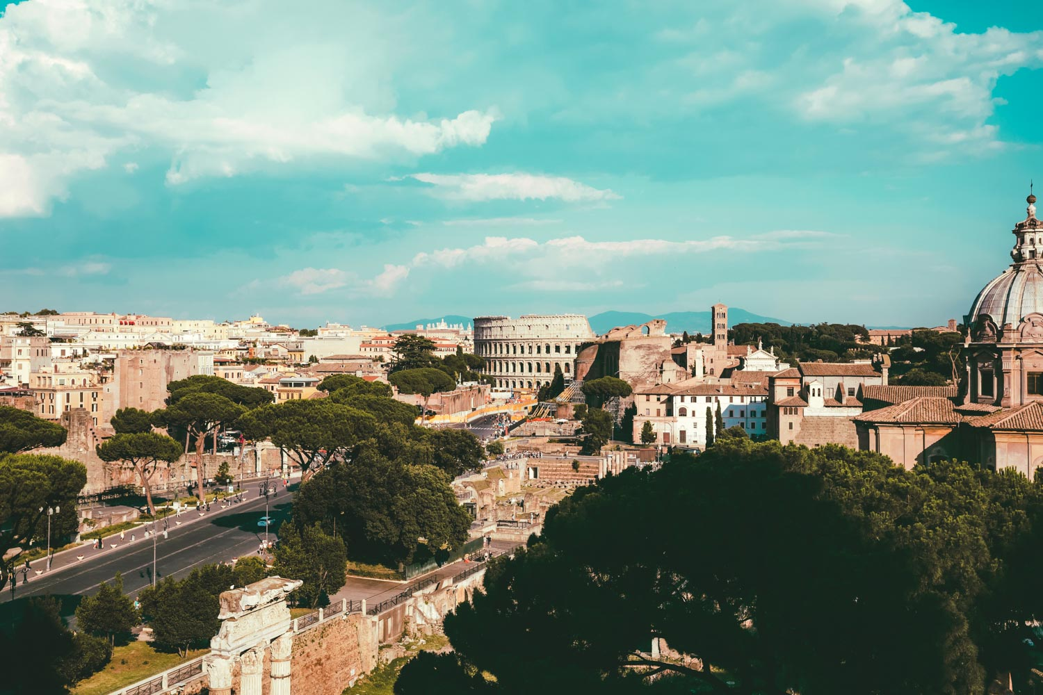 Colosseum views one of the best views in Rome Italy