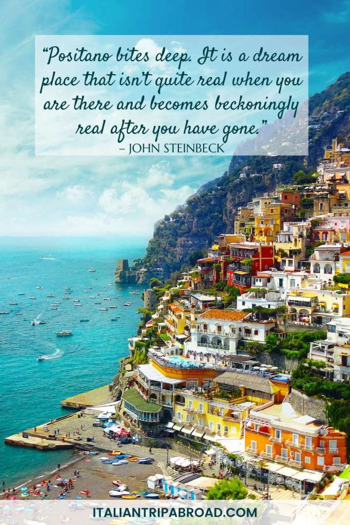 Instagram quotes about Italy - Positano and Amalfi Coast