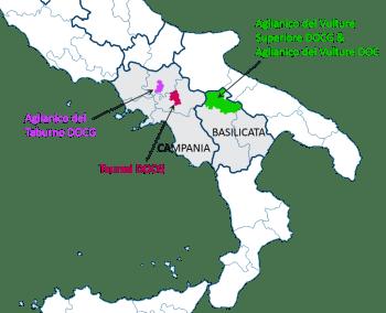 Aglianico-based DOPs