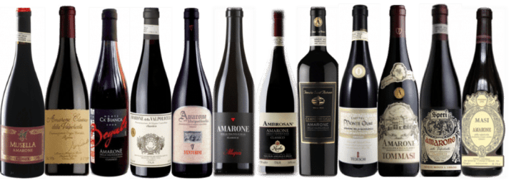 Amarone Families tasting lineup