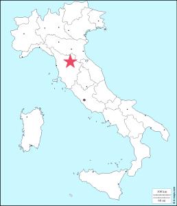 フィレンツェの位置