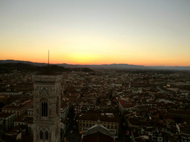 フィレンツェの夕日