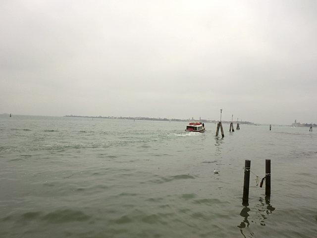 ヴェネツィアの運河の杭