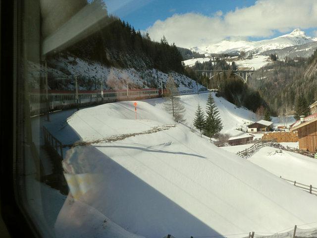 オーストリアの雪景色