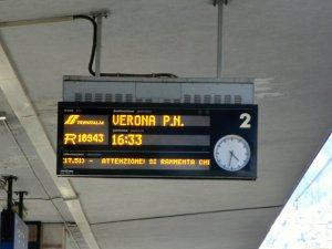 ヴェネツィア行き電車