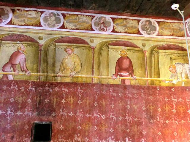 ロンコロ城フレスコ画