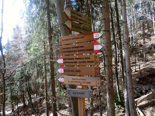 レノンのハイキング標識