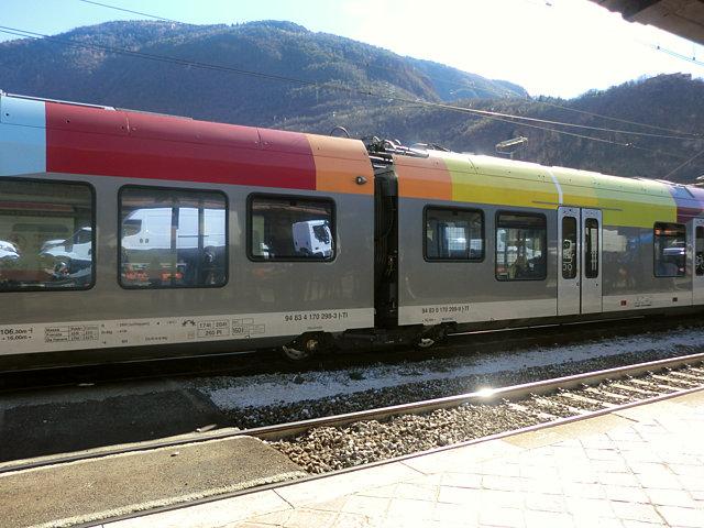 キウーザ行きの電車