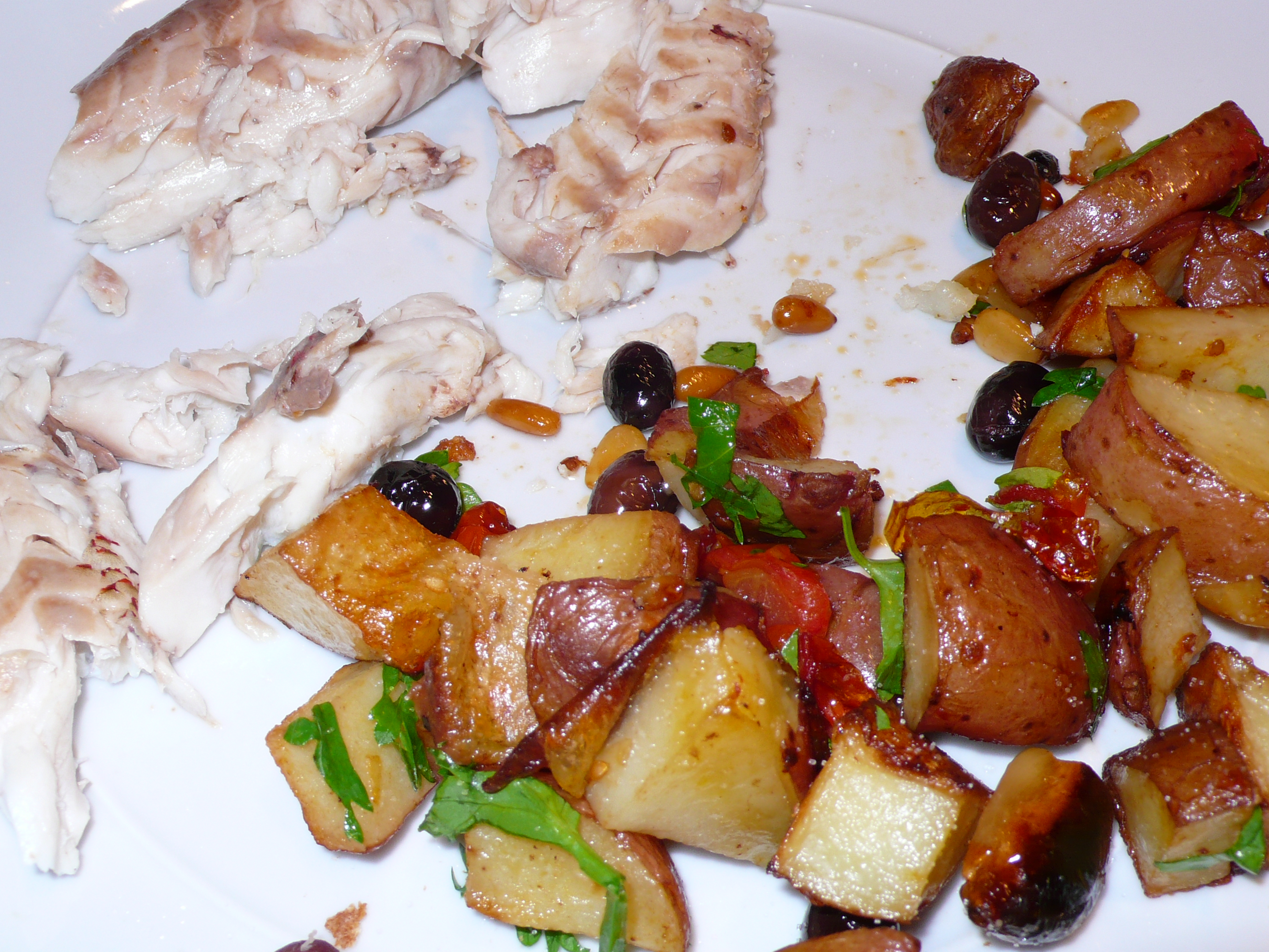 red snapper with roasted potatoes