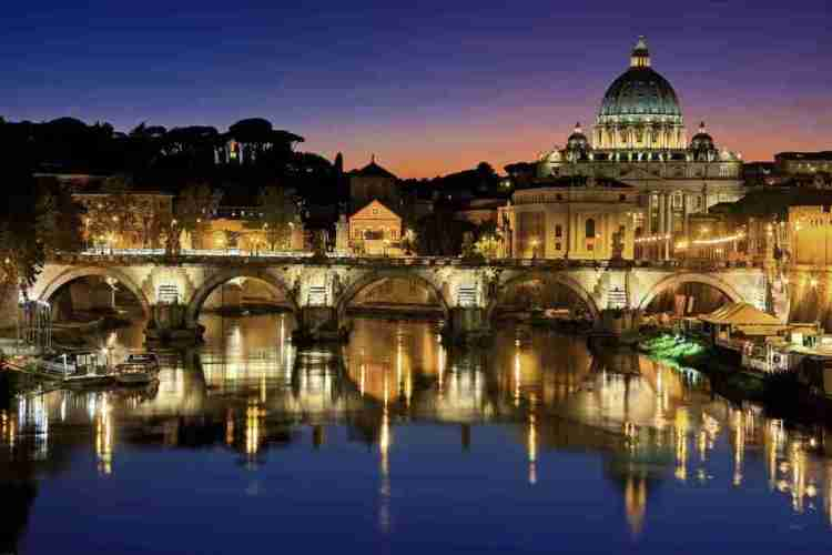 Rome lights and St. Peter's