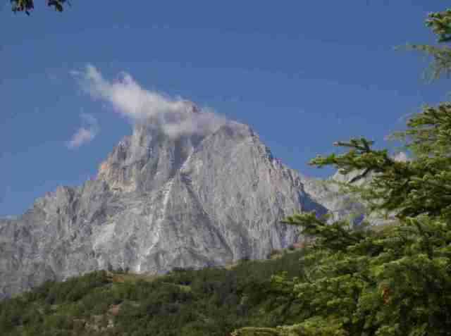 The Corno Grande in Abruzzo's Gran Sasso National Park is the tallest peak in Italy outside of the Alps