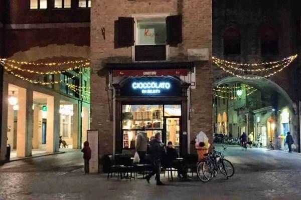 Rizzati chocolate shop in Ferrara