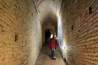 Inside the Castello Estense of Ferrara