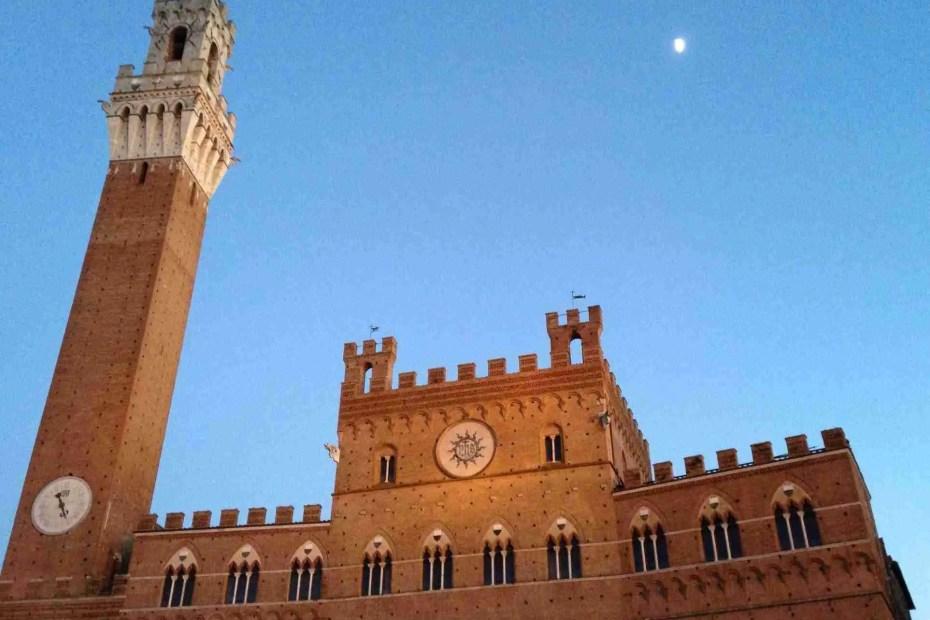 Piazza del Campo Siena in winter