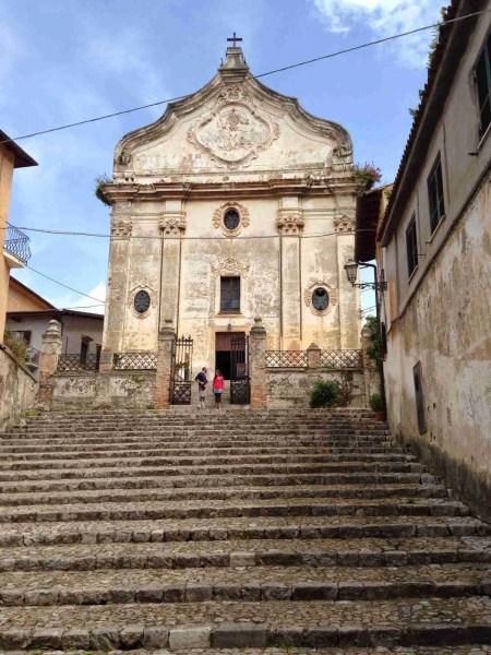 View of the Church of Purgatorio, Terracina