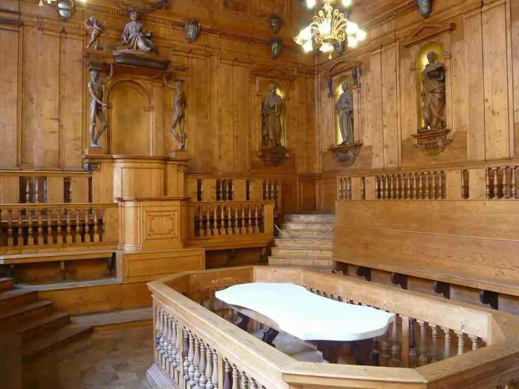 Anatomical Theater at Palazzo Archiginnasio in Bologna