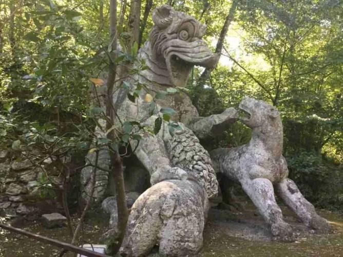 Monster sculpture in Bomarzo's Parco dei Mostri