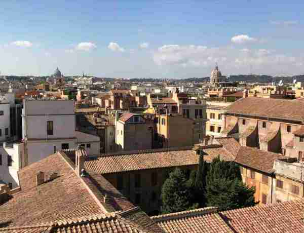 View of Rome Rooftops from Rinascente