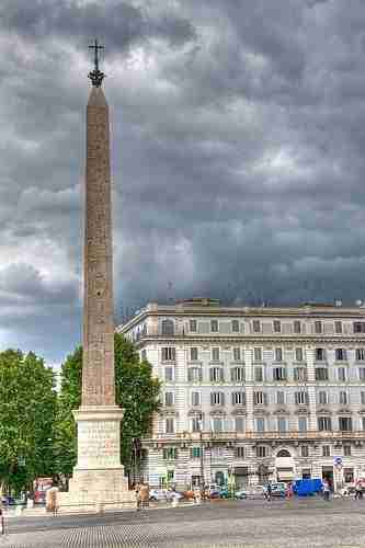 The obelisk outside of the basilica of San Giovanni in Laterano
