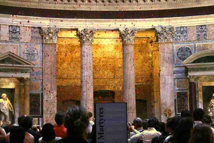 Pantheon Rose Petals on Pentecost