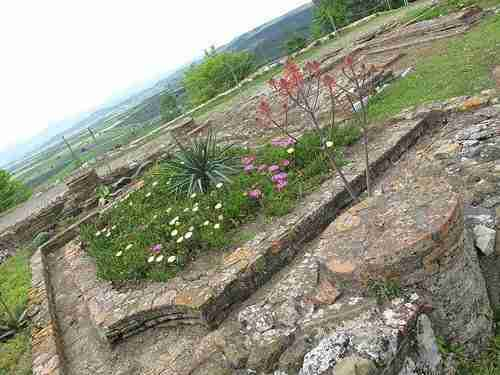 Garden at the Ruins of Roselle in Maremma Tuscany