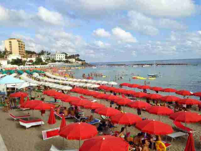 Santa Marinella beach near Rome
