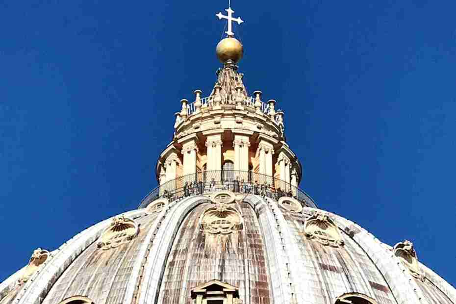Dome of St. Peter's Basilica and a blue sky