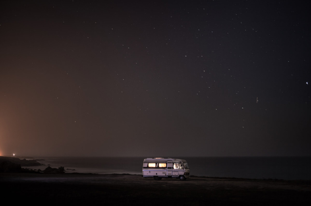 A van in the sea 14