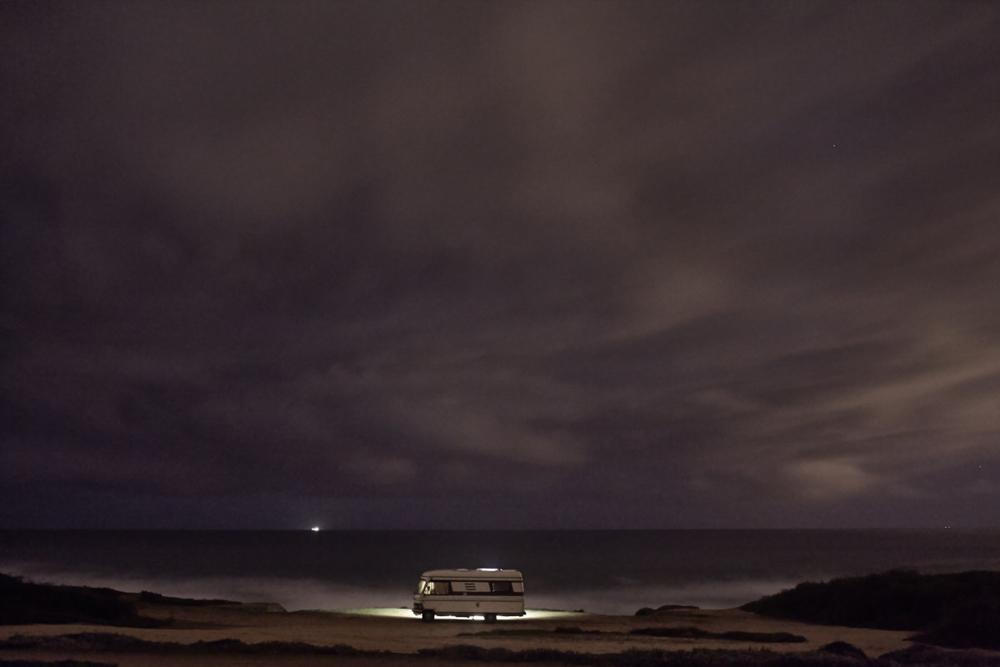 A van in the sea 24