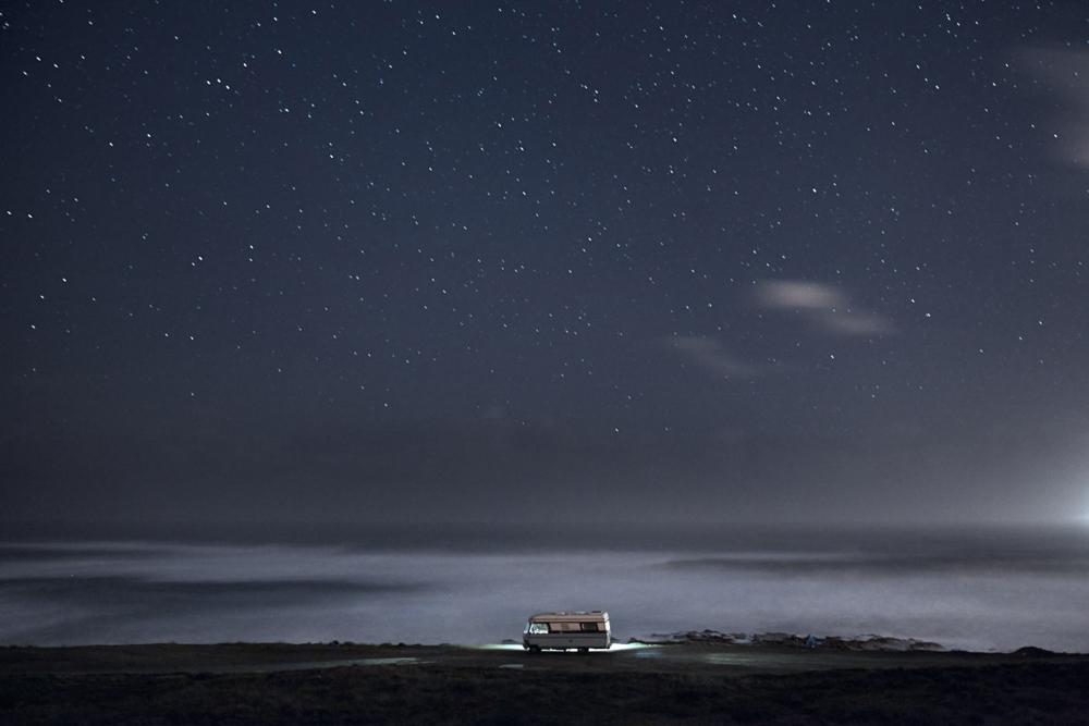 A van in the sea 12