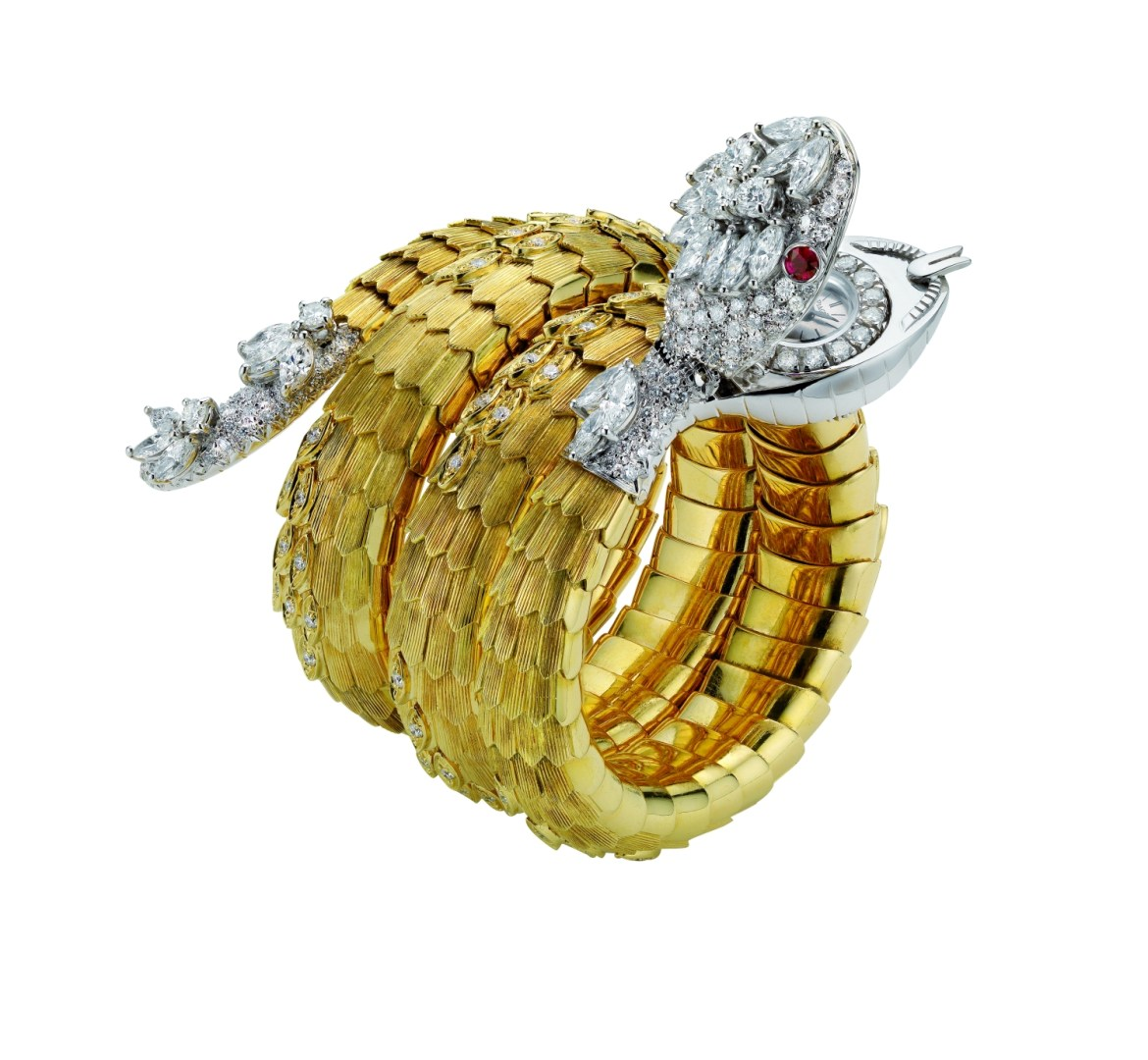 _Serpenti_ bracelet-watch in gold with rubies and diamonds, 1967