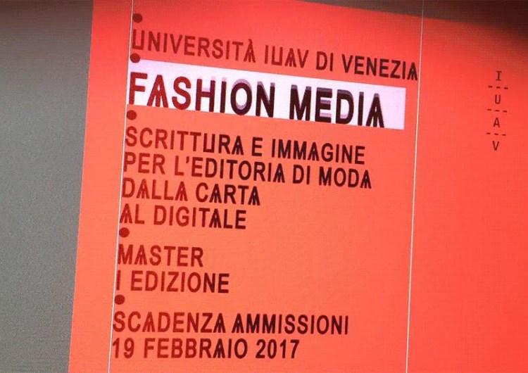 IUAV presenta: Master in Fashion Media