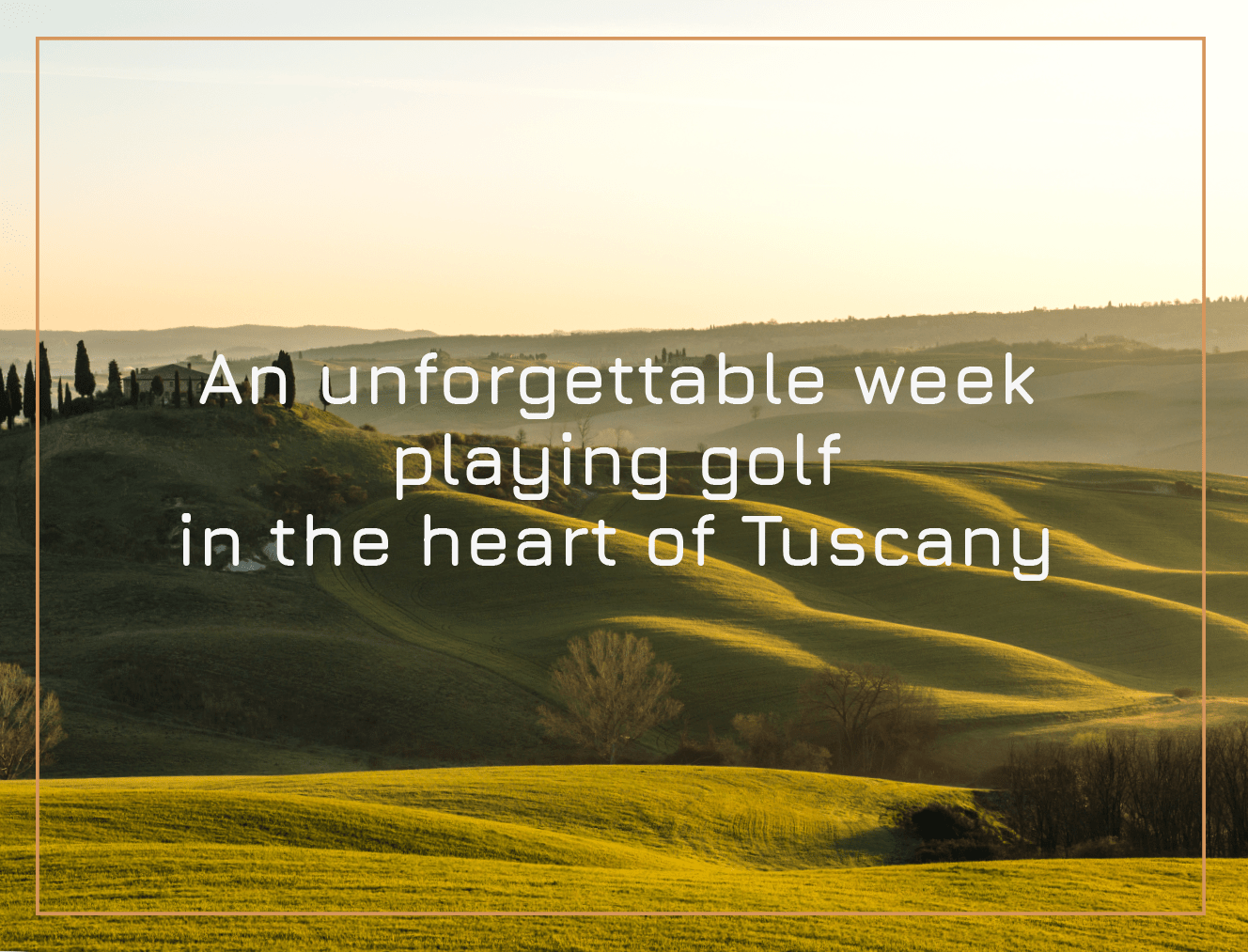 Playing Golf in the Heart of Tuscany