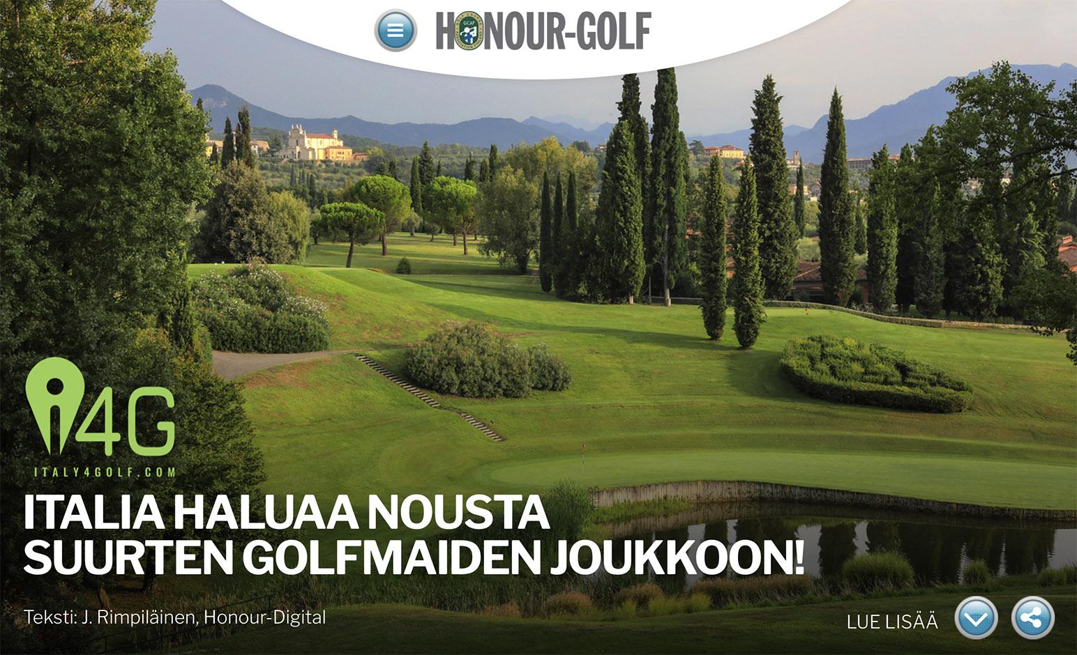 Honour-Golf praises Italy4golf