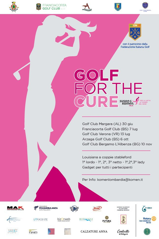 Locandina Golf for the Cure