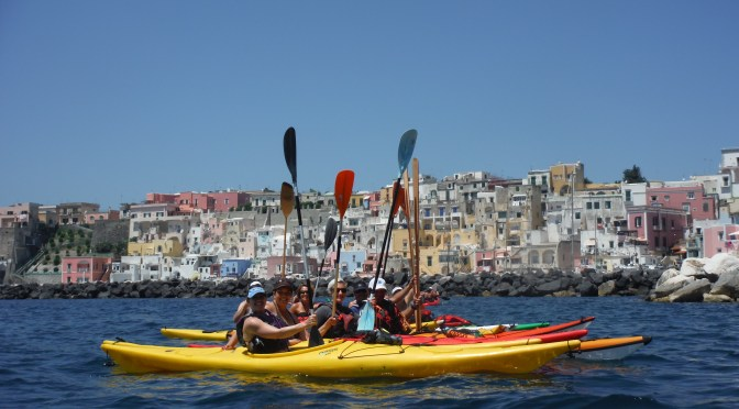 Kayak the island of Procida and experience beautiful views from the sea with ASD Kayak