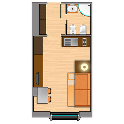 arsutoria-accommodation-oneroom