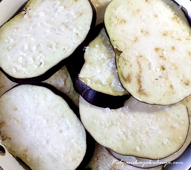 Лазанья с баклажанами и сыром Скаморца
