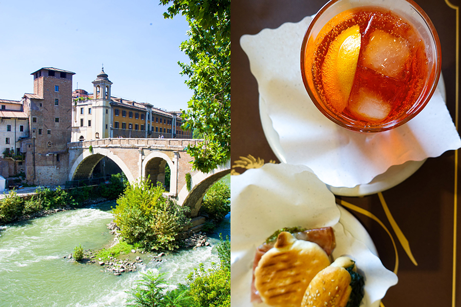 fiume tevere and spritz-italy on my mind