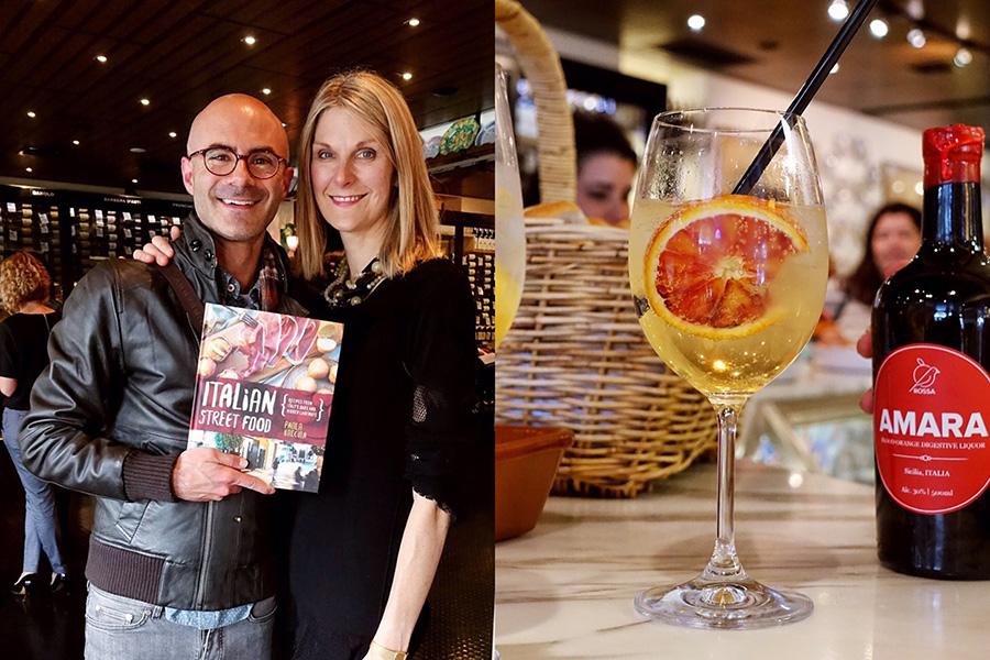 dean and paola-italian street food launch-enoteca sileno-italy on my mind
