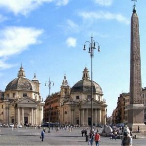 architettura in travertino piazza del popolo a roma