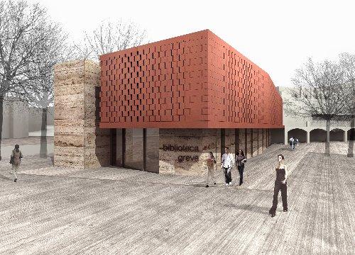nuova biblioteca di Grave in Chianti