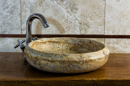 Essential, lavabo in Pietra di Rapolano